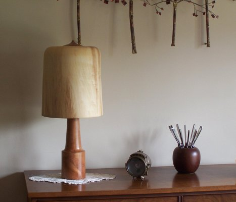 Wooden Black Cherry with Aspen shade lamp.jpg