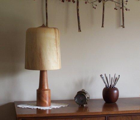 Wooden Black Cherry with Aspen shade lamp.jpg